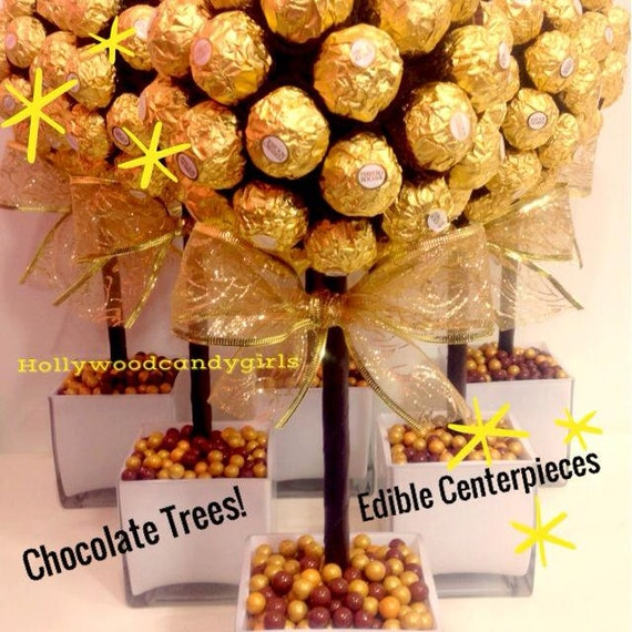 Ferrero Rocher Holiday Chocolate BrownGold Candy Arrangement