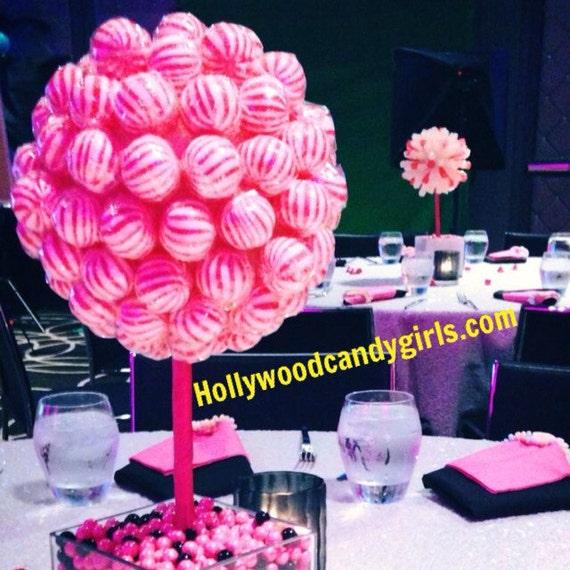Pink white black lollipop sucker striped candy land