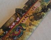 Steampunk Bison Knitting Needle Roll for Interchangable Circular Knitting Needles