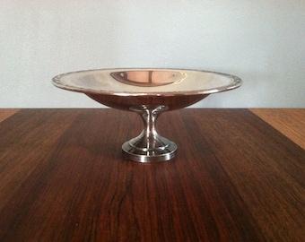 Vintage Silverplate Pedestal Candy Dish Onieda Silversmiths