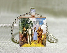 """Wizard of Oz Scrabble Jewelry, Necklace or Pendant Only, Cowardly Lion, Scarecrow, Tinman, Dorothy, Wizard of Oz Jewelry, 18"""" Chain"""