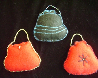 Felt Purse Ornaments or Gift Tags