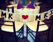 MR and MRS banner great for Weddings and Photo Props