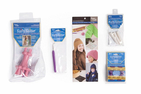 Loom Knitting Kit : Knifty knitter loom accessory kit new in box with free
