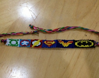 Superhero  Friendship Bracelet