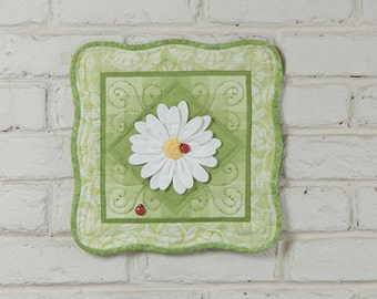 3D Daisy Wall Quilt Pattern