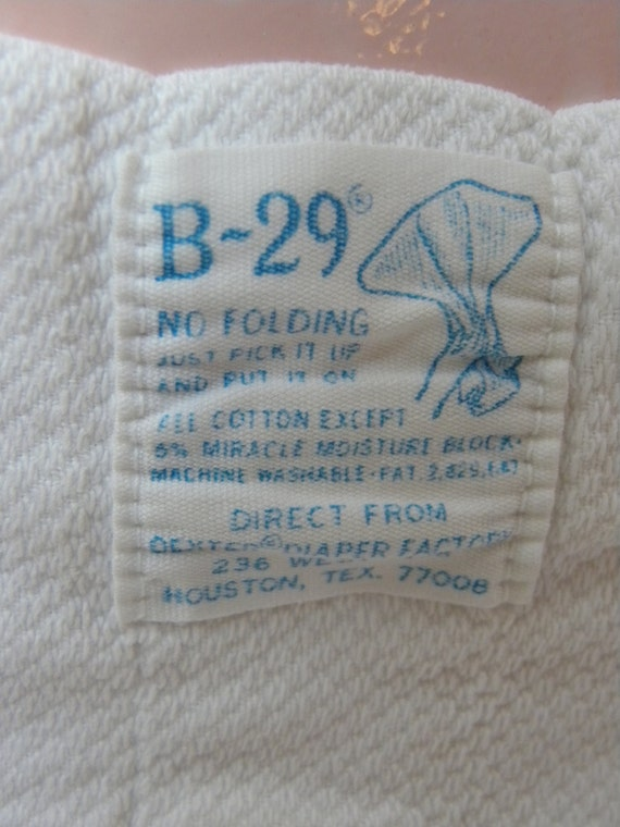 vintage b 29 cloth diapers no folding just it by