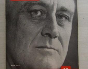 Vintage Life Magazine 1937 President Roosevelt Cover