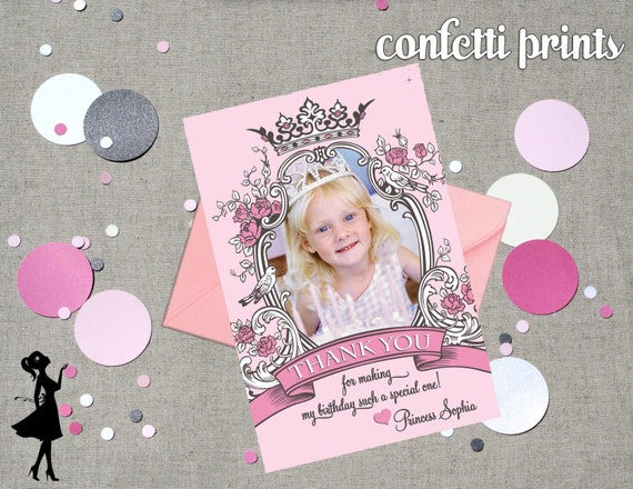 Thank You Card / Photo Card - VINTAGE PRINCESS Printable