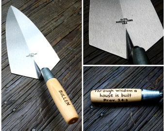 Personalized Masonry Trowel - Engraved Mason Gift - Fathers Day Gift - Husband Gift- Brick trowel Gift- Hand Float- Hand engraved