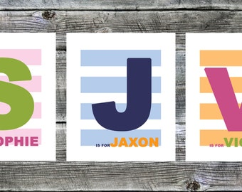 DIGITAL COPY -- Beautiful custom striped children's print