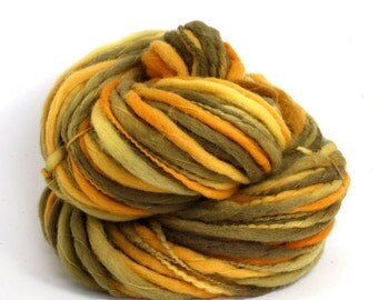 Titan - Hand Dyed Thick-n-Thin Merino Wool Bulky Chunky Yarn - Colorway: Sundance