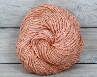 Supernova - Hand Dyed Superwash Merino Wool Worsted Yarn - Colorway: Blush