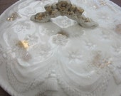 Victorian Gold And White Chamber Pot Lid