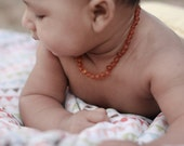 Baltic Amber Teething Necklace for Baby - Not polished - Natural pain relief - Safety Knotted between beads  !!! SPECIAL PRICE !!!