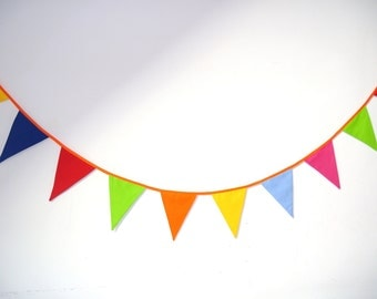 SALE: shabby fabric garland, banners, bunting