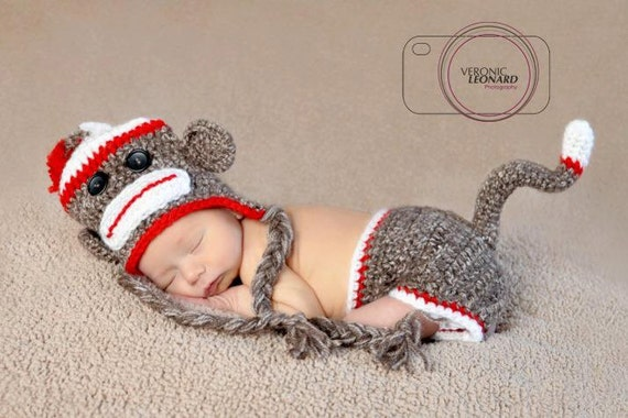 Sock Monkey Newborn set
