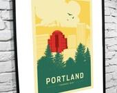 Portland, Oregon Skyline 8x10 Poster