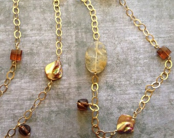 Long Gold Filled Necklace