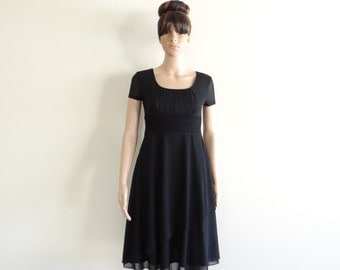 Black Dress. Dress With Sleeves. Evening Dress