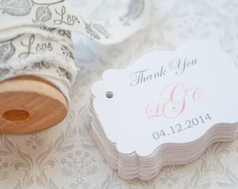 Gift Tags-Wedding Favors-Bridal Shower favors-Baby Shower Favors-Wedding Thank you Tags - Set of 40