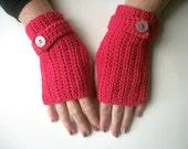 Crochet kit, fingerless mitts, DIY gloves
