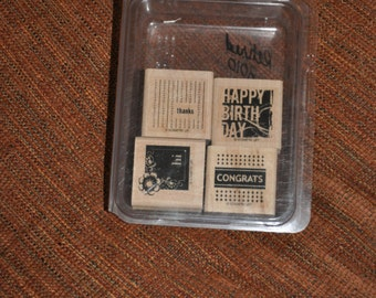 Stampin' Up Four Square Rubber Stamp Set