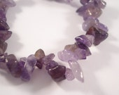 "6"" Strand of Amethyst Chips"