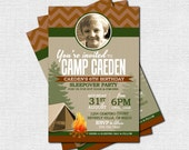 CAMP INVITATION Backyard Birthday Bash Party (print your own) Personalized Printable