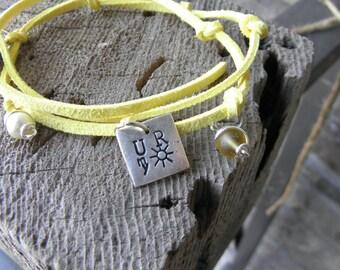 You are my sunshine Bracelet, wrap bracelet