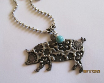 FFA 4H Show Pig soldered stockshow necklace