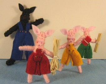 The Three Little Pigs Storybook Doll Set