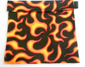 Red Flames Reusable Sandwich bag