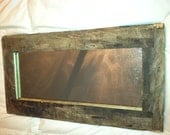 Rustic Mirrors, made of assorted reclaimed wood
