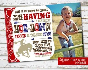 Cowboy Invite with Photo