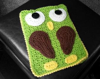 Crochet Owl tablet cover, ipad air, ipad mini, kendall, nexus, nook, galaxy, surface, nextbook, yoga tablet, pandigital tablet, handmade