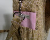 Gold/Brown Giraffe Print with Pink Diaper Bag, Messenger Bag