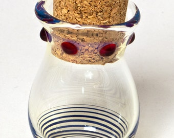Handmade glass stash jar
