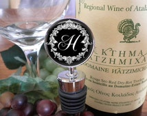 Personalized Wine Stopper - Vintage Wreath - Maid of Honor - Bridesmaid - Birthday Gift