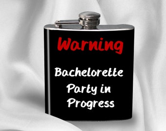 Bachelorette Party Flask  - Bachelorette Party - Bridal Party Maid of Honor Bridesmaid- Cyber Monday