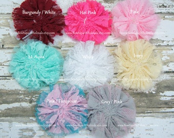 New SOFT LACE TULLE Flower - 3 inches - 1 pcs