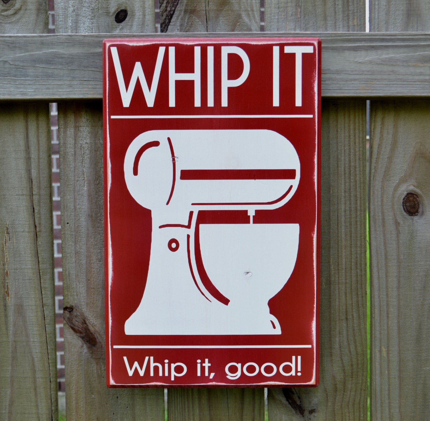 Personalised Kitchen Signs: Whip It Whip It Good Kitchen Decor Custom Wood Sign By