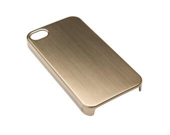 Brushed Gold Metallic iPhone 4/4s Case