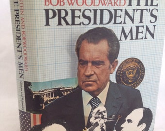 BOOK SALE! Vintage Hardback Book: All The Presidents Men (Carl Bernstein & Bob Woodward) 1975