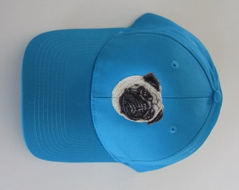 Pug embroidered cap