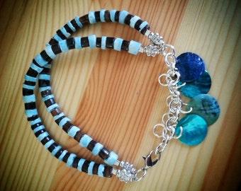 Puka Shell Charm Bracelet
