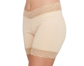 Beige Biker Shorts Shaping Underwear Style