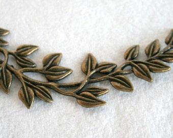 Large Antique Bronze Willow Leaf Connector/Link