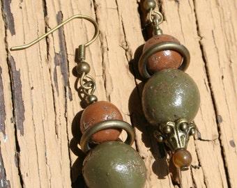 Faux Stone Earthy Earrings
