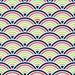 Scalloped Fish Scale Fabric by the Yard - Multi